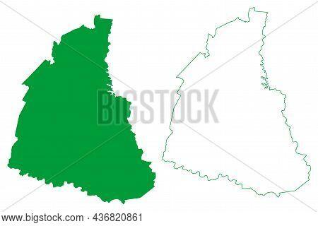 Itiuba Municipality (bahia State, Municipalities Of Brazil, Federative Republic Of Brazil) Map Vecto