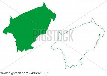 Jaguarari Municipality (bahia State, Municipalities Of Brazil, Federative Republic Of Brazil) Map Ve