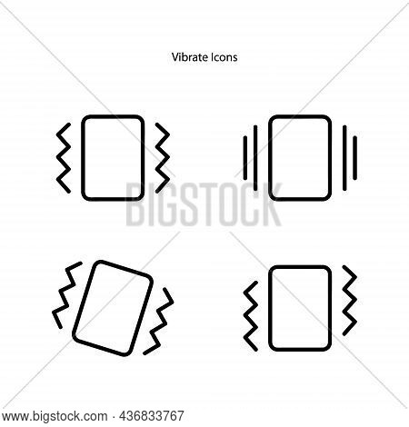 Vibrate Icons Isolated On White Background. Vibrate Icon Trendy And Modern Vibrate Symbol For Logo,