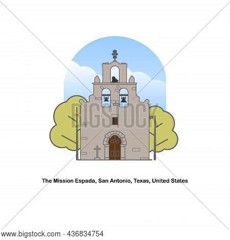Mission San Francisco De La Espada Also Mission Espada, San Antonio Missions National Historical Par