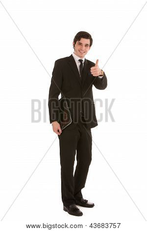 Happy Businessman Giving A Thumbs Up