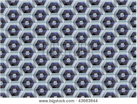 Vector background of the hexagonal honeycomb