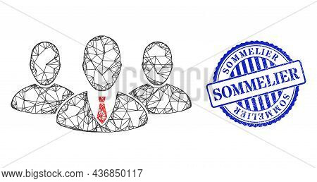 Vector Net Mesh Boss Group Carcass, And Sommelier Blue Rosette Unclean Seal Imitation. Wire Carcass