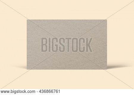 Blank customized beige business card