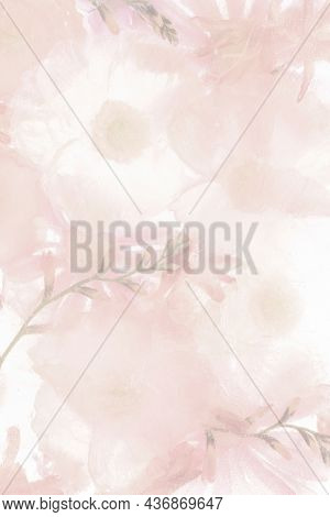 Pink blooming anemone flower background