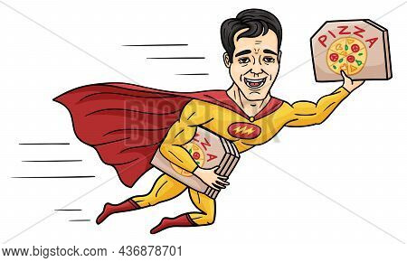 Superhero Delivers Pizza In Flight Very Fast