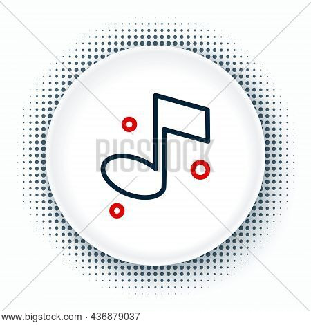 Line Music Note, Tone Icon Isolated On White Background. Colorful Outline Concept. Vector