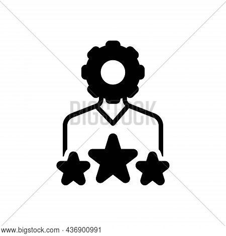 Black Solid Icon For Expertise Ability Expertness Skillfulness Talent Favorite