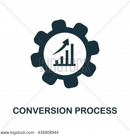Conversion Process Icon. Monochrome Sign From Customer Relationship Collection. Creative Conversion