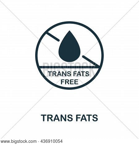 Trans Fats Icon. Monochrome Sign From Diet Collection. Creative Trans Fats Icon Illustration For Web