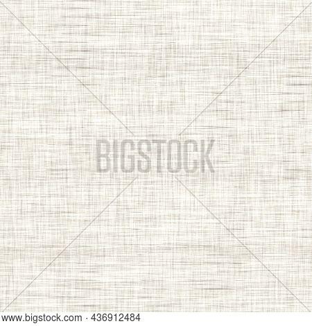 Linen Texture Background With Broken Stripe. Organic Irregular Striped Seamless Pattern. Modern Plai