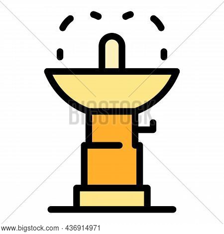 Water Drink Faucet Icon. Outline Water Drink Faucet Vector Icon Color Flat Isolated