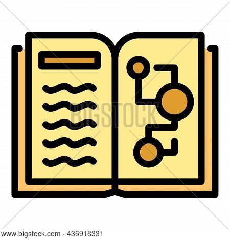 Ai Learning Book Icon. Outline Ai Learning Book Vector Icon Color Flat Isolated
