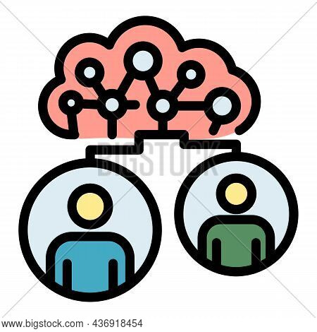 Ai Network Icon. Outline Ai Network Vector Icon Color Flat Isolated