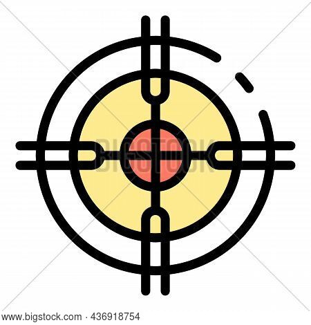 Ai Target Icon. Outline Ai Target Vector Icon Color Flat Isolated