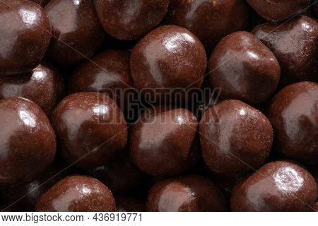 Detailed And Large Close Up Shot Of Chocolate Covered Fruits.
