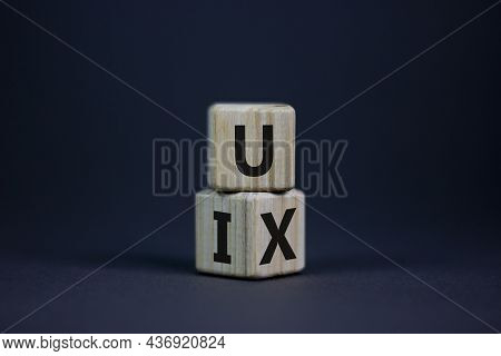Ux Design Or Ui Design. Turned Cube And Changed Words Ux User Experience To Ui User Interface. Beaut