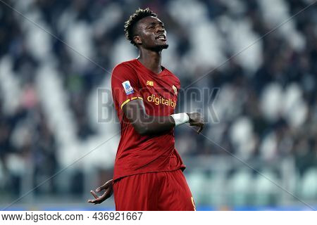 Torino, Italy. 17 October 2021. Tammy Abraham Of As Roma  During The Serie A Match Between Juventus