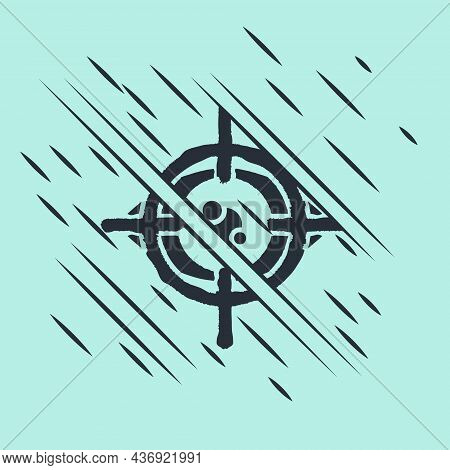 Black Eye Scan Icon Isolated On Green Background. Scanning Eye. Security Check Symbol. Cyber Eye Sig