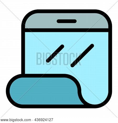 Flex Smartphone Display Icon. Outline Flex Smartphone Display Vector Icon Color Flat Isolated