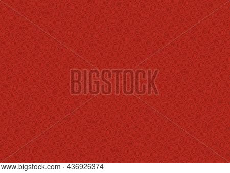 Red Diagonal Texture With Waved Lines And Circles - Abstract Background Pattern As Illustration For