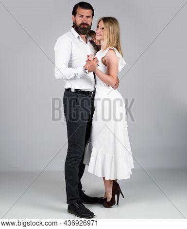 Ballroom Dancing. Couple Dance. Dancing, Salsa, Tango, Waltz. Couple In Tender Passion.
