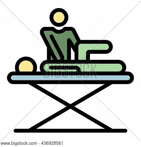 Rehabilitation Massage Icon. Outline Rehabilitation Massage Vector Icon Color Flat Isolated