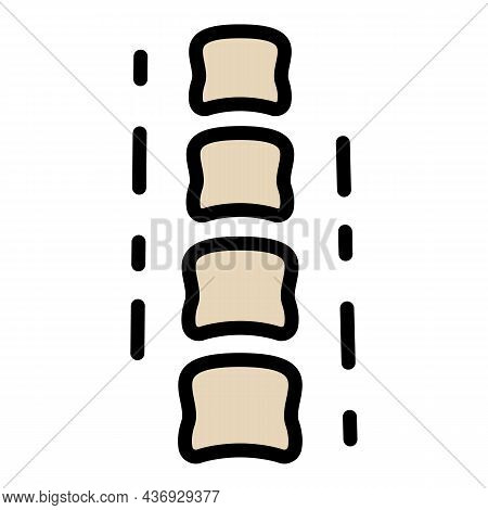 Spine Line Icon. Outline Spine Line Vector Icon Color Flat Isolated