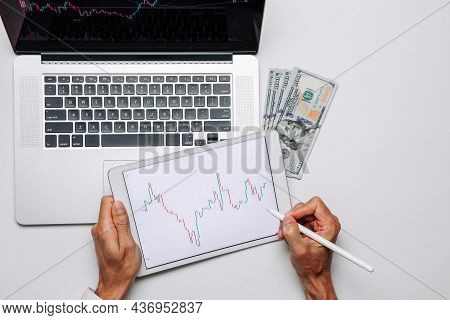 Investment Strategy. Investment Business Technology App On Digital Screen. Finance Application For S