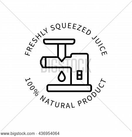 Line Icon Freshly Squeezed Juice In Simple Style. Vector Sign In A Simple Style Isolated On A White