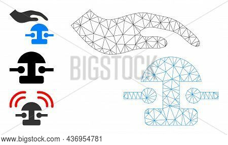 Web Carcass Press Bell Vector Icon, And Bonus Icons. Flat 2d Carcass Created From Press Bell Pictogr
