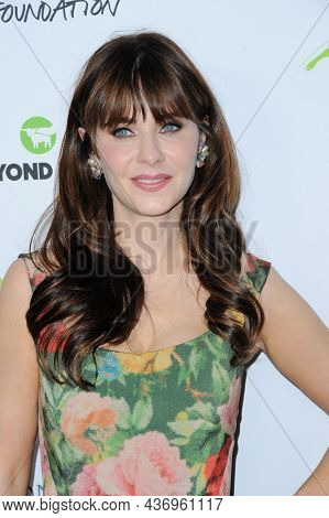 Zooey Deschanel at the Environmental Media Association (EMA) Awards Gala held at the GEARBOX LA in Los Angeles, USA on October 16, 2021.