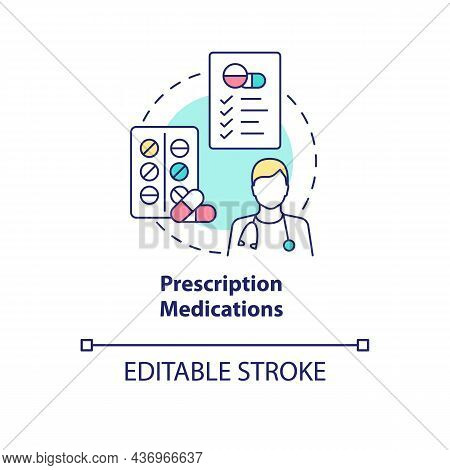 Prescription Medications Concept Icon. Pneumonia Treatment Abstract Idea Thin Line Illustration. Ant