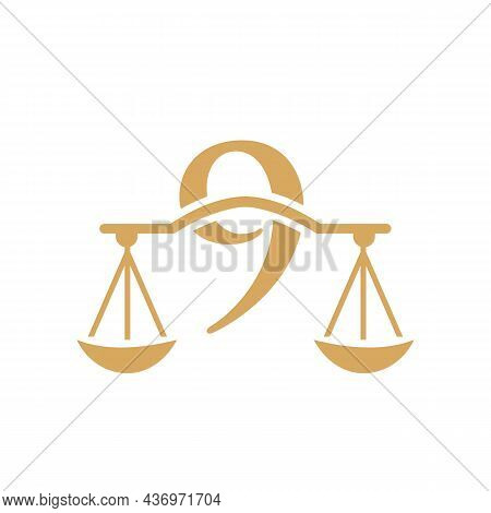 Law Firm Logo Design On Letter 9. Lawyer And Justice, Law Attorney, Legal, Lawyer Service, Law Offic