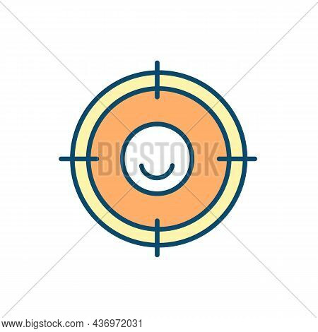 Setting Goals For Success And Happiness Rgb Color Icon. Establishing Life Direction. Boosting Motiva