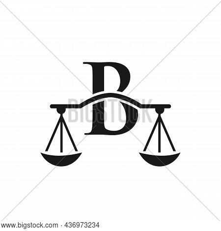 Law Firm Logo Design On Letter B. Lawyer And Justice, Law Attorney, Legal, Lawyer Service, Law Offic