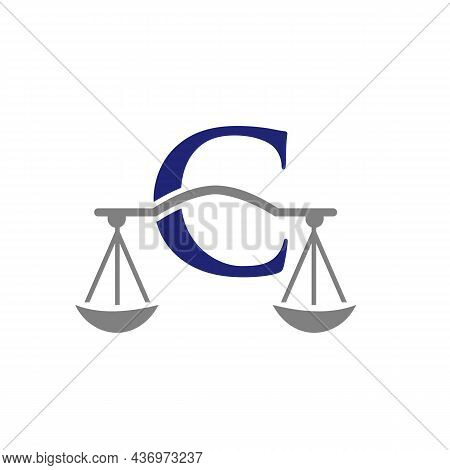 Law Firm Logo Design On Letter C. Lawyer And Justice, Law Attorney, Legal, Lawyer Service, Law Offic
