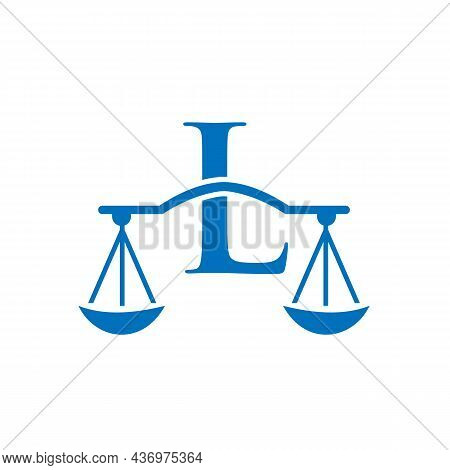 Law Firm Logo Design On Letter L. Lawyer And Justice, Law Attorney, Legal, Lawyer Service, Law Offic