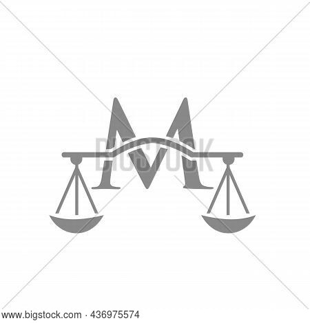 Law Firm Logo Design On Letter M. Lawyer And Justice, Law Attorney, Legal, Lawyer Service, Law Offic