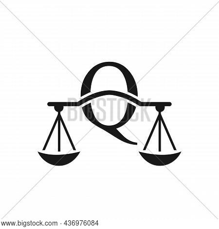 Law Firm Logo Design On Letter Q. Lawyer And Justice, Law Attorney, Legal, Lawyer Service, Law Offic