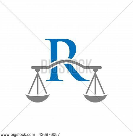 Law Firm Logo Design On Letter R. Lawyer And Justice, Law Attorney, Legal, Lawyer Service, Law Offic