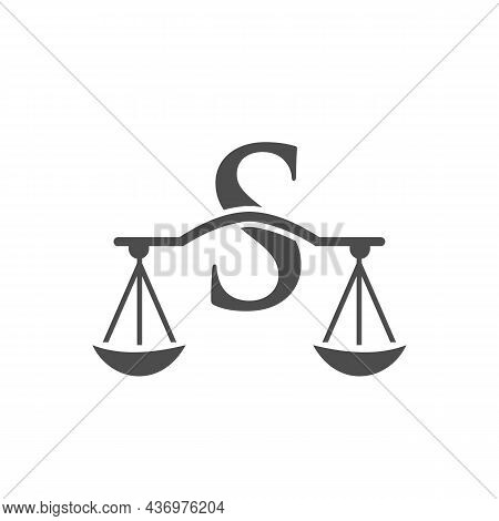Law Firm Logo Design On Letter S. Lawyer And Justice, Law Attorney, Legal, Lawyer Service, Law Offic