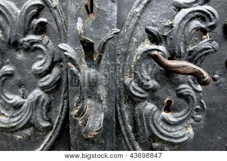Old door with handle