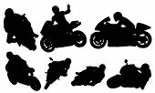 Motorcycle racing vectors from my sports vectors collection poster