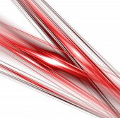 abstract fractal rendering resembling red and black lines poster