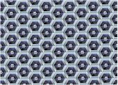 Vector pattern of hexagons in the form of a honeycomb poster