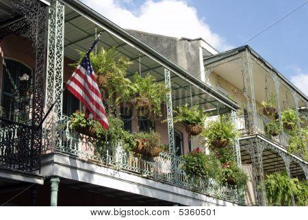 Balcony With Flag