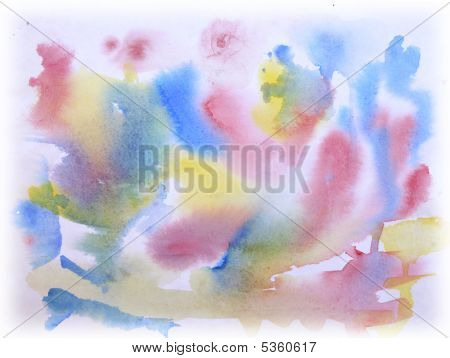 Watercolor Painting Of The Primary Colors