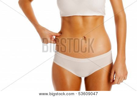 Thin Girl Pinching Fat