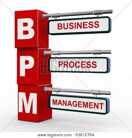 3D Modern Signboard Of Bpm